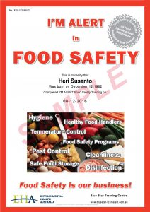 Sertifikat Food Safety
